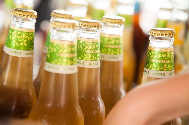 chlazené láhve