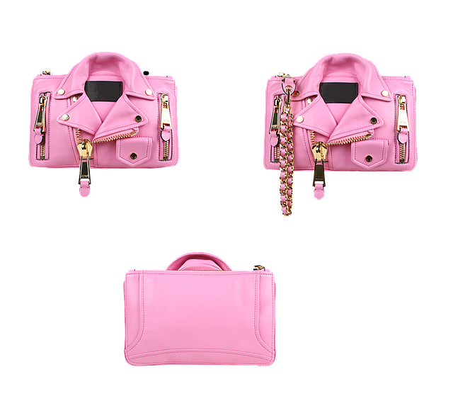 módní designové růžové kožené kabelky